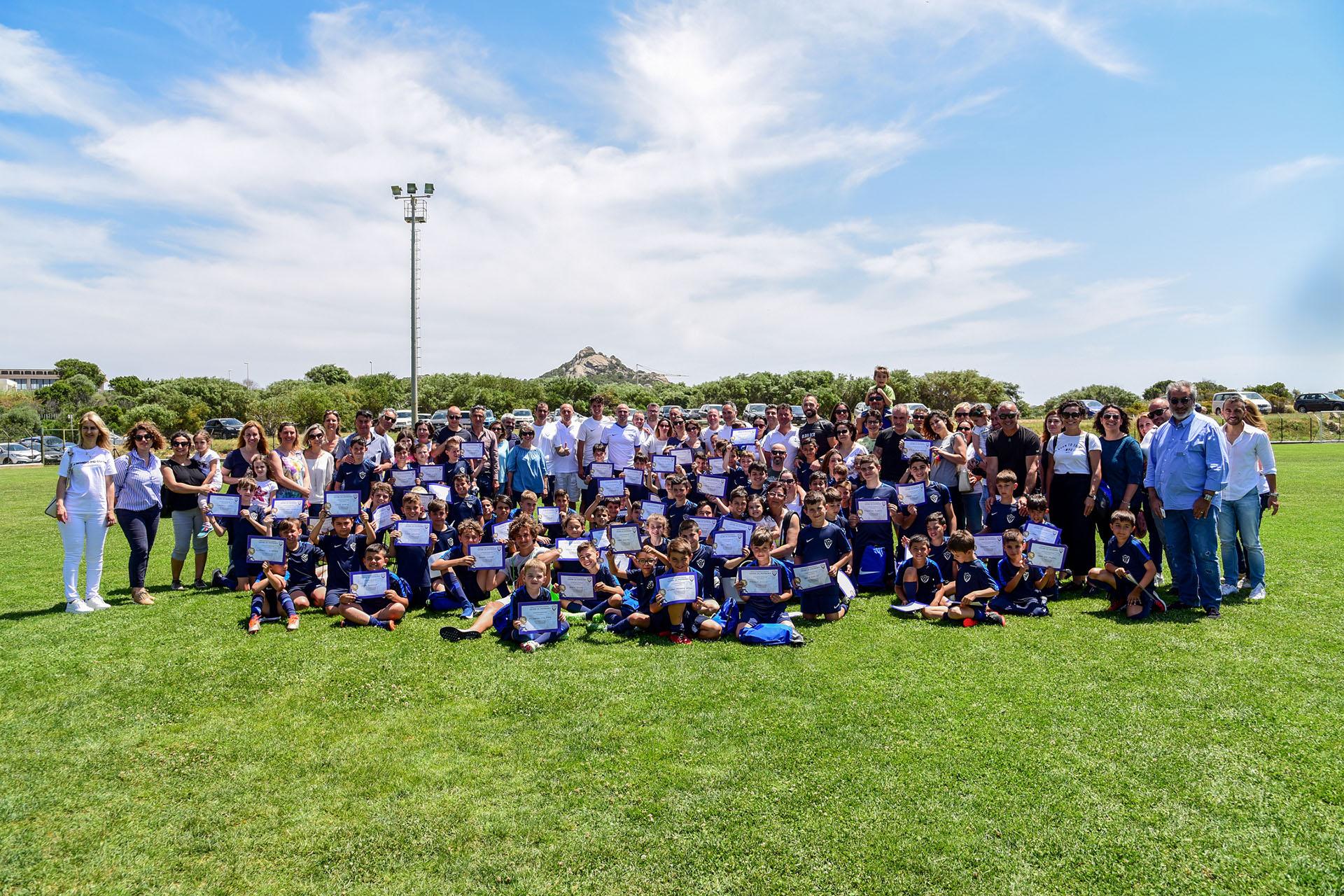 A scuola di calcio in Costa Smeralda con Zanetti e Cambiasso