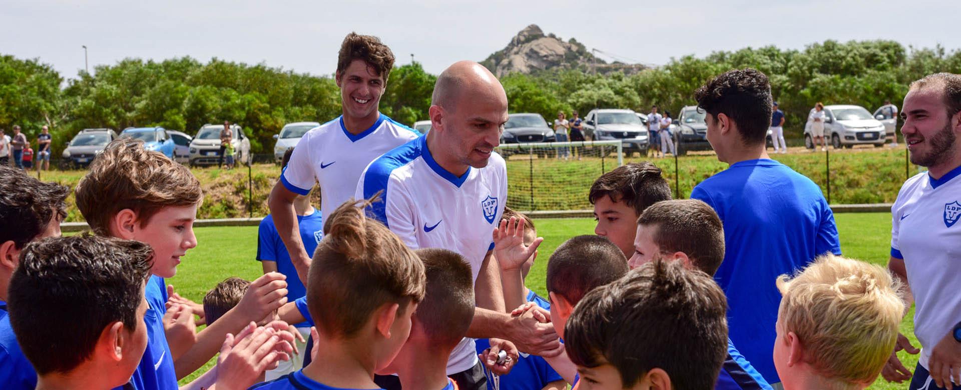 Esteban Cambiasso allenatore d'eccezione ad Abbiadori
